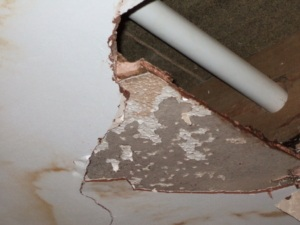 Artex ceiling repairs