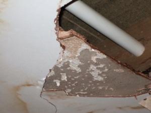 Artex ceiling repairs