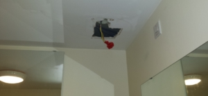 Electrics affected by leak from flat above