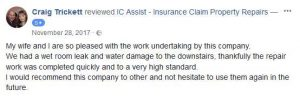 IC Assist review - claim for repairs to wet room & lounge