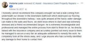 IC Assist review for management of an escape of water claim