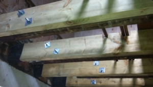 Water damaged joist re-placement in Grangetown, Cardiff