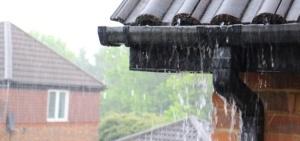 Storm damage insurance claim afetr severe downpour