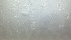 Water bubble and crack in Artex ceiling