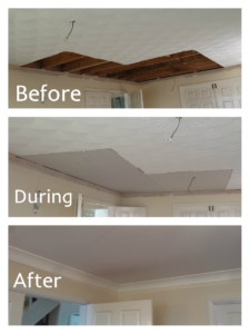 Water damage Artex ceiling claim Roath, Cardiff