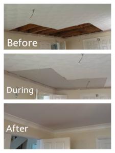 Water damage Artex ceiling claim Roath, Cardiff