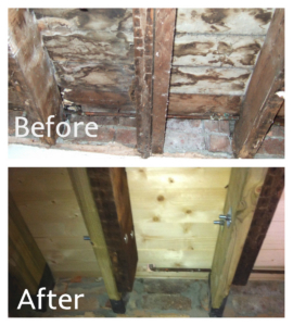 Water damage joists repairs Cardiff