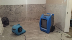 Water damage property drying