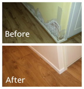 Repairs to walls and floors completed by IC Assist